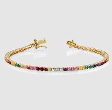 Rainbow Tennis Bracelet