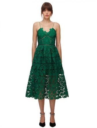 Green Azaelea Midi Dress