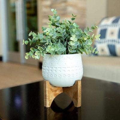 Flora Bunda Artificial White Mayan Eucalyptus