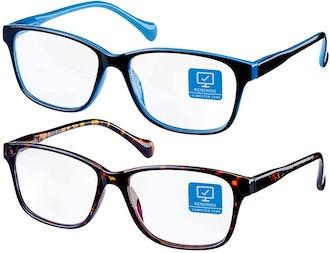 K KENZHOU Blue Light-Blocking Glasses (2-Pack)