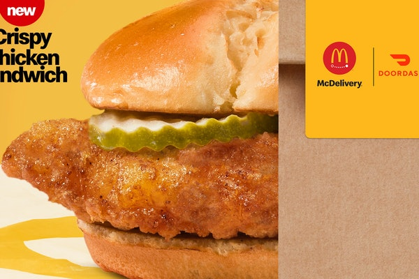 You can get a free McDonald's Crispy Chicken Sandwich on DoorDash starting on March 1.