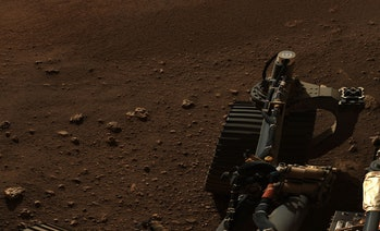 A close-up from the Mars panorama of Jezero Crater
