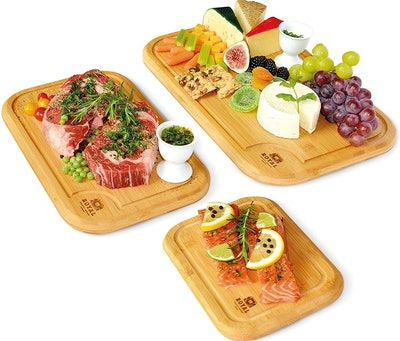 Royal Craft Wood Bamboo Cutting Boards (3-Pack)