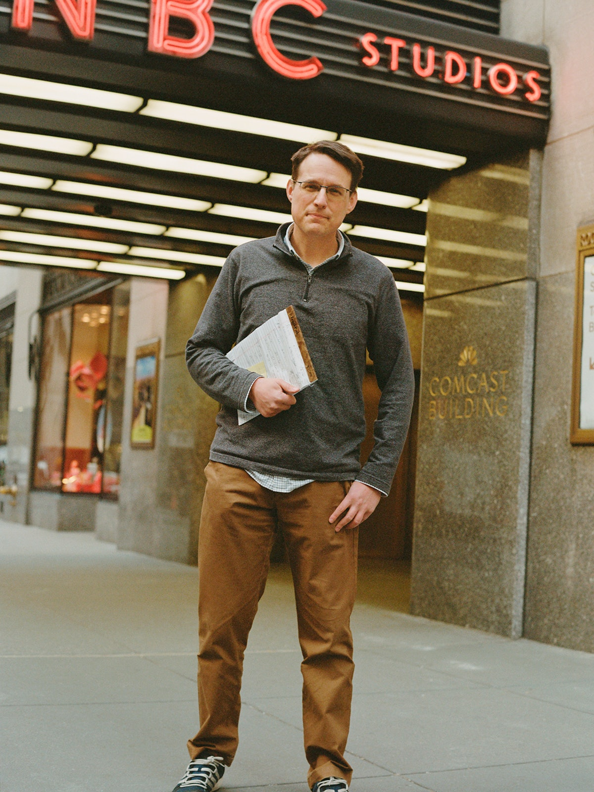 Steve Kornacki was photographed in  New York City in January 2021.