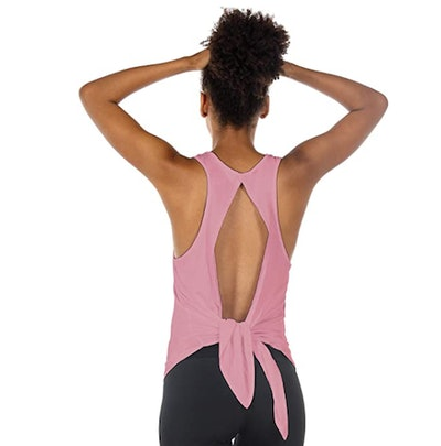 Icyzone Open-Back Workout Top