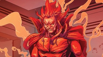 Mephisto smiling in the Marvel Comics