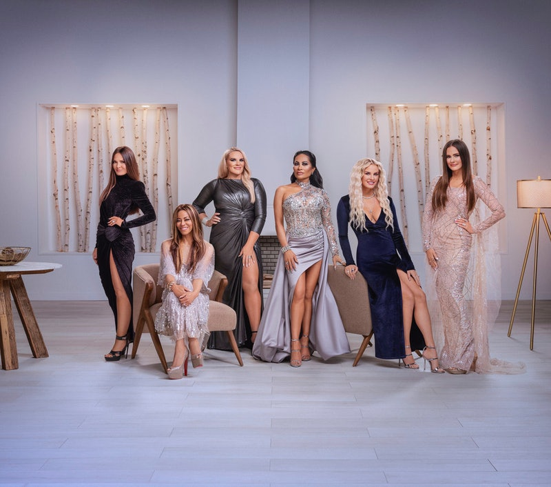 'RHOSLC' Season 1 cast members Lisa Barlow, Mary Cosby, Heather Gay, Jen Shah, Whitney Rose, and Mer...