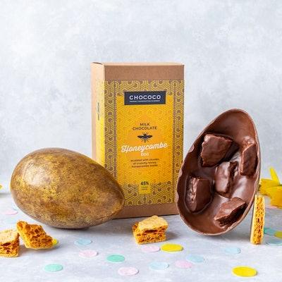 Giant Milk Chocolate Honeycomb Studded Easter Egg