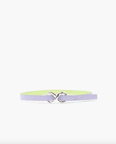 Infinity Belt Leather Emboss Lavender