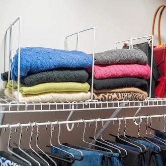 Evelots Closet Shelf Dividers (8-Pack)