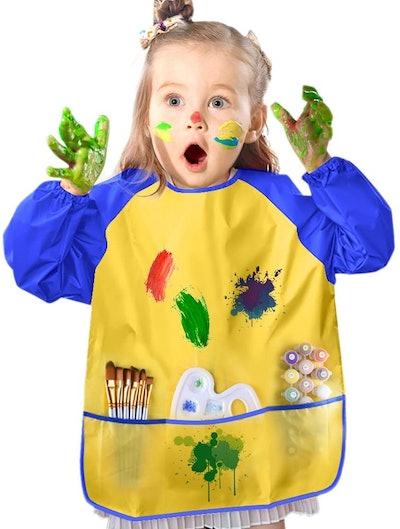 KUUQA Toddler Waterproof Art Smock