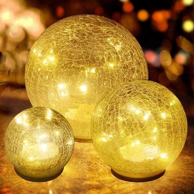 jiabang Glass Ball LED Lights (3-Pack)