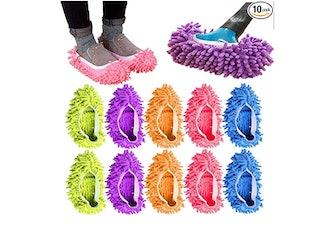AIFUSI 10 Piece Mop Slippers