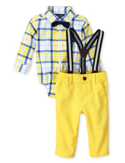 Plaid Poplin Outfit Set