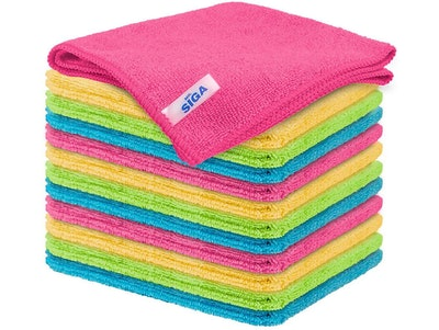 MR.SIGA Microfiber Cleaning Cloth (Pack of 12)