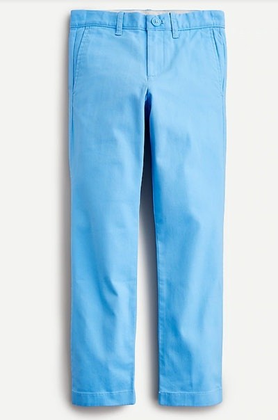 Boys' stretch chino pant in slim fit in Cornflower Blue