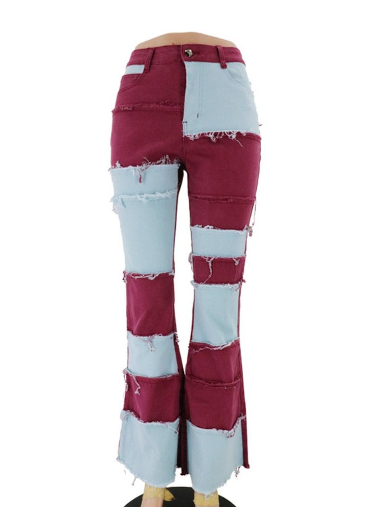 Suncain Whole Ladies Plus Size Patchwork Jeans