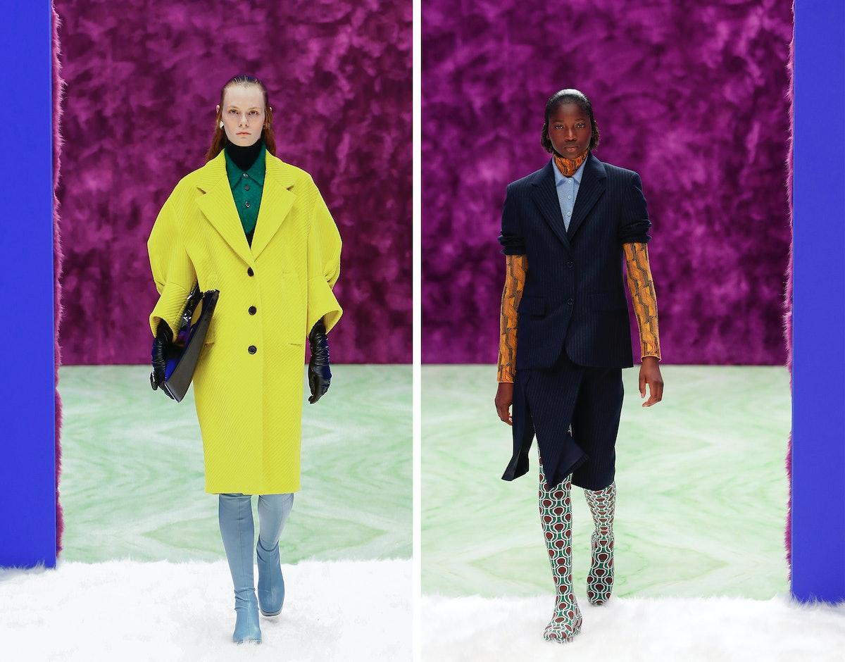 Two Prada models