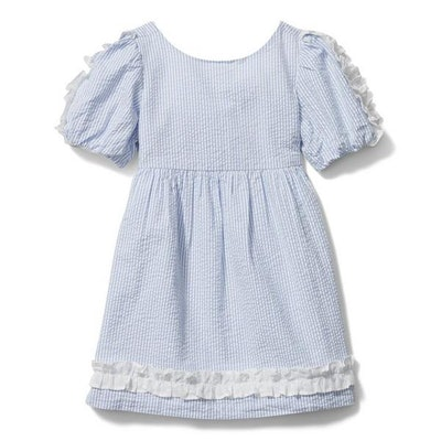Seersucker Ruffle Dress