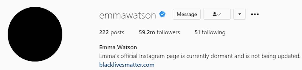 Emma Watson Instagram Bio