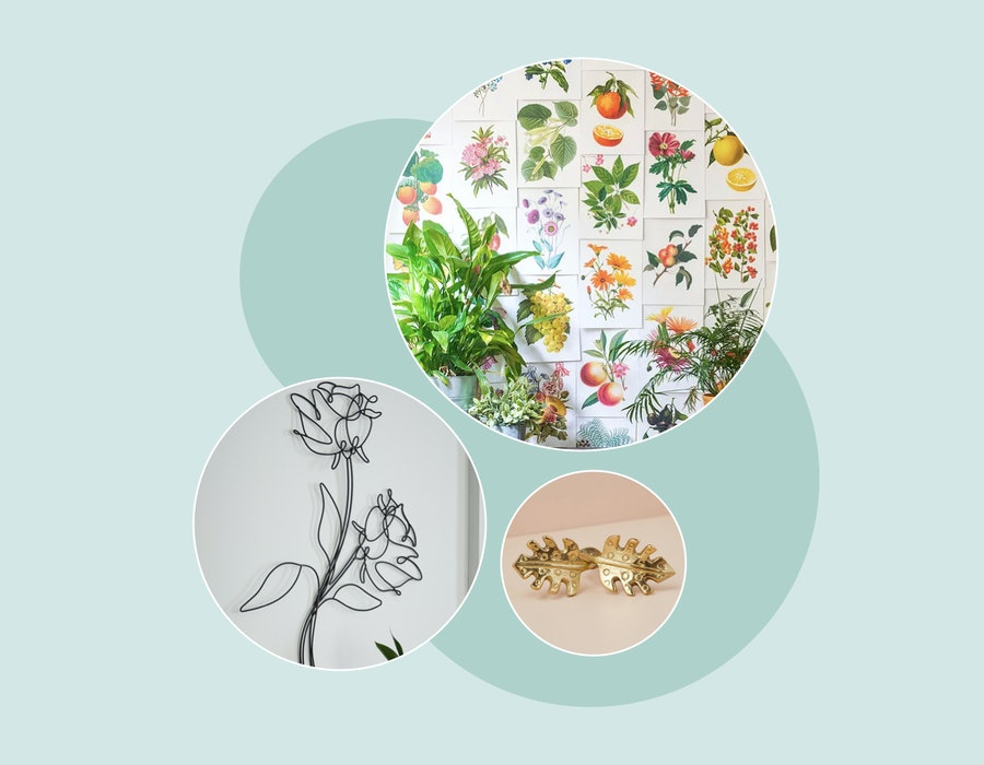 Plant wallpaper, floral wallpaper, & other nature-inspired interiors