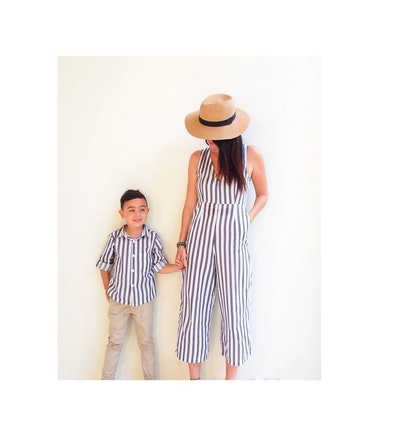 TinyTotsKids - Mommy and me Outfit-Grey Stripes