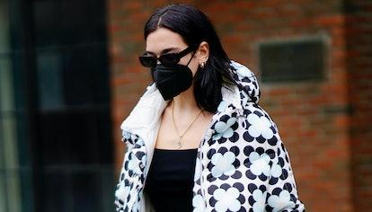 Dua Lipa departs her hotel on December 16, 2020 in New York City.