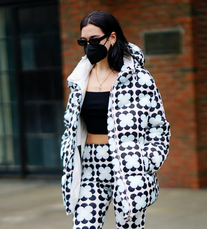Dua Lipa departs her hotel on December 16, 2020 in New York City.