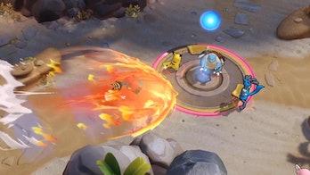 Pokémon unite moba presents multiplayer gameplay