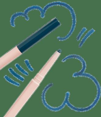 Kajal Eyeliner Underlined Blue