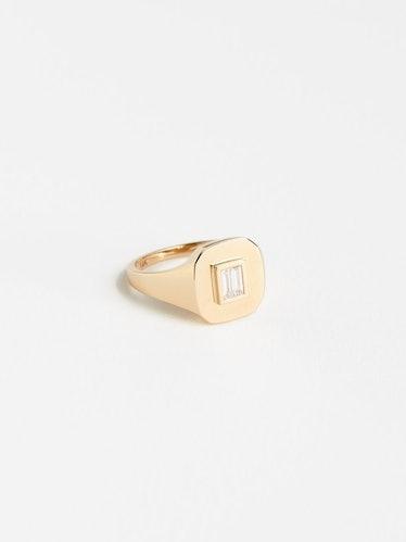 Baguette Diamond Pinky Ring