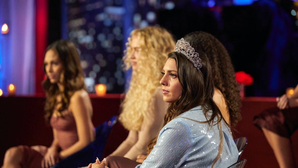 """Victoria Larson at the Bachelor Season 25 """"Women Tell All"""" special."""