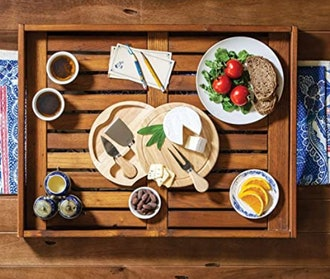 TOSCANA 7-1/2-Inch Cheese Board with Cheese Tools
