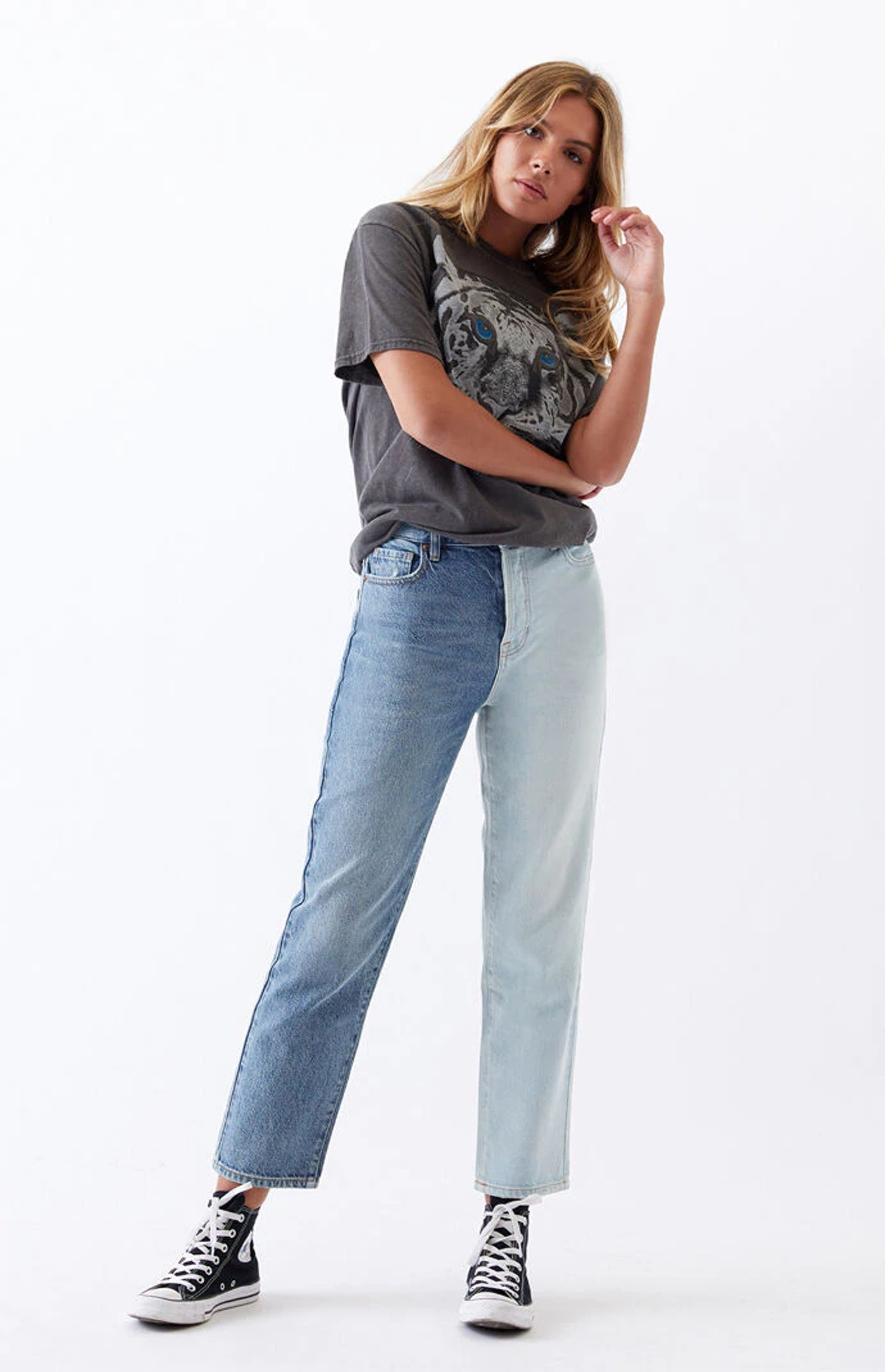 PacSun Two Piece High Waisted Straight Leg Jeans