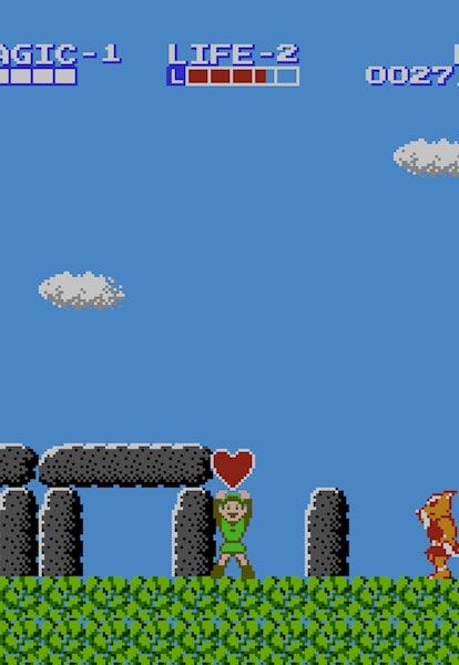 legend of zelda 2 link's adventure heart container