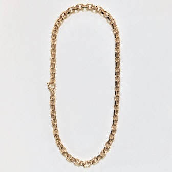 Nancy Filed Rolo Chain Strand Necklace 10mm