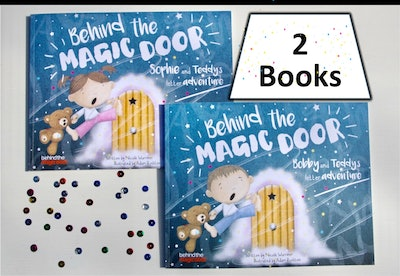 """""""Behind The Magic Door"""" Personalized Twin Books"""