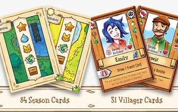 A screenshot for the board game adaptation of Stardew Valley, which is a farming simulation game. Th...