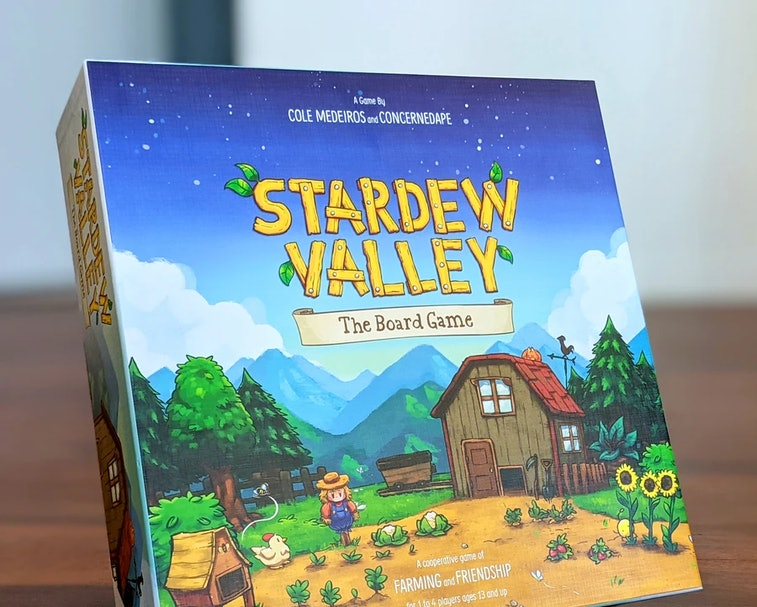 A screenshot of Stardew Valley shows several farmers working on fields by a barn.