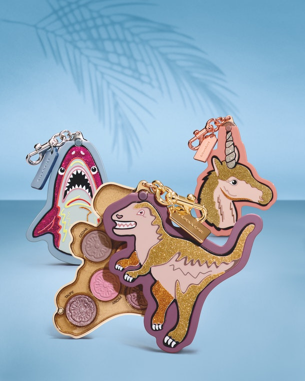 The palettes Sharky, Rexy, and Uni from the Sephora and COACH collaboration.