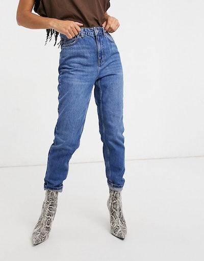 Topshop mom jeans in indigo