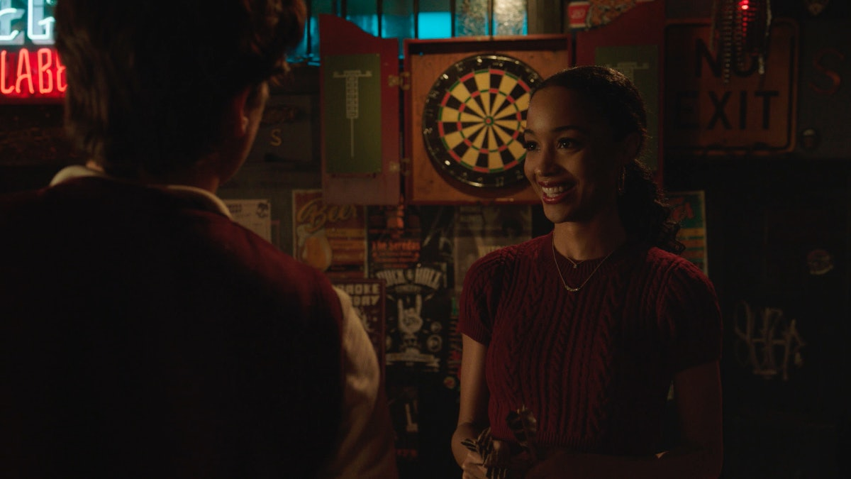 Cole Sprouse as Jughead Jones and Erinn Westbrook as Tabitha Tate in The CW's 'Riverdale'