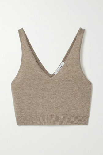 Cropped Cashmere Tank