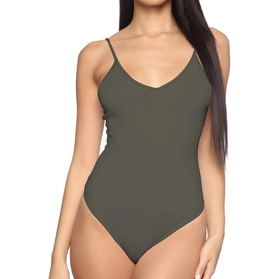 MANGDIUP V-Neck Camisole Bodysuits