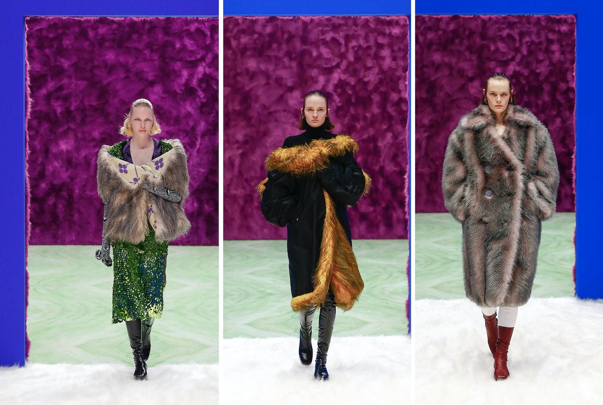 Three Prada models