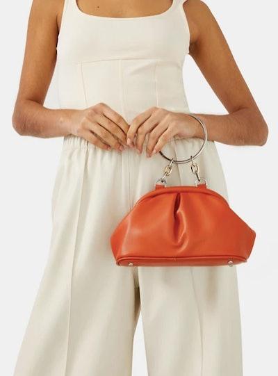 Topshop soft vintage handbag in red