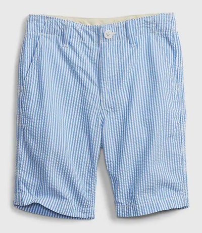 Kids Woven Shorts in Seersucker Stripe