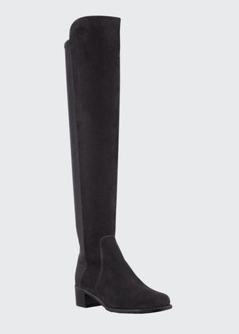 Reserve Wide Suede Stretch-Back Over-the-Knee Boots