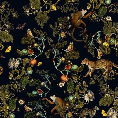 X Wall Colors Dark Botanic Wallpaper