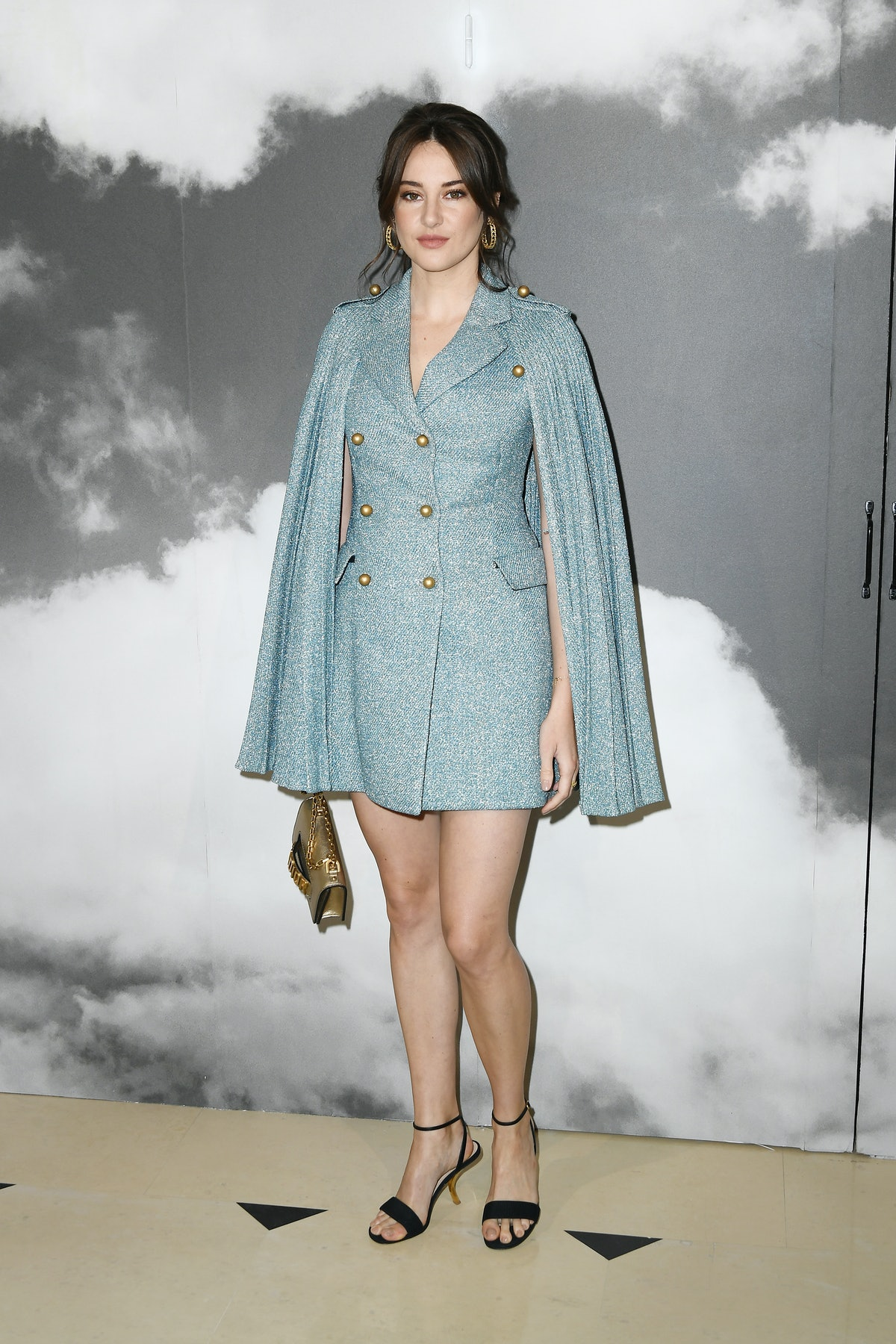 Shailene Woodley attends the Christian Dior Haute Couture Fall/Winter 2019 2020 show as part of Pari...
